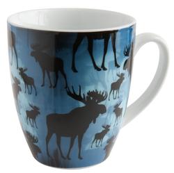 Keramikmugg Blå Älgar