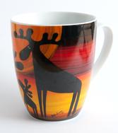 Keramikmugg Älgar färg