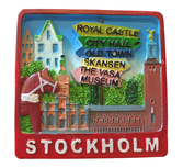 3D magnet Stockholm skyltar