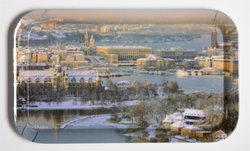 Bricka Stockholm flygbild, vinter