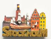 3D magnet Stockholm guld