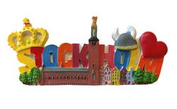 3D magnet Stockholm Collage