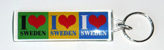 Nyckelring I love Sweden