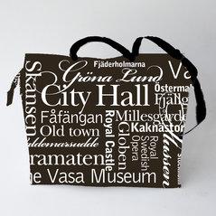 Väska Stockholm, typografisk