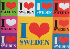 Magnet, I love Sweden