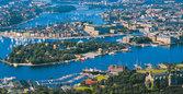Bokmärke Flygfoto Stockholm