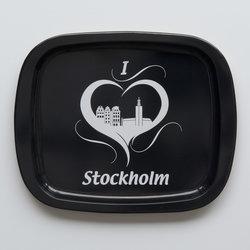 Plåtbricka Stockholm S/V