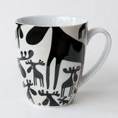 Keramikmugg Svarta älgar